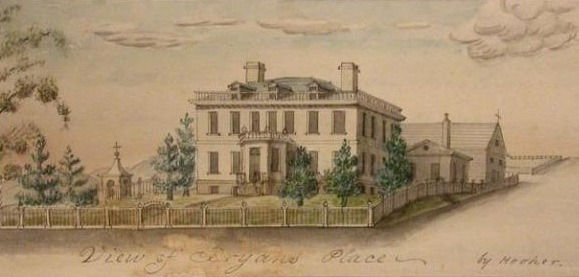 Schuyler Mansion in 1818
